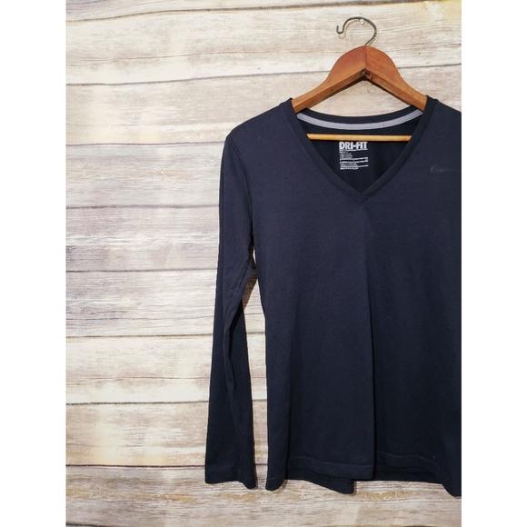 16bc8f43 Nike Tops | Black Sz S Legend Long Sleeve Vneck Shirt | Poshmark
